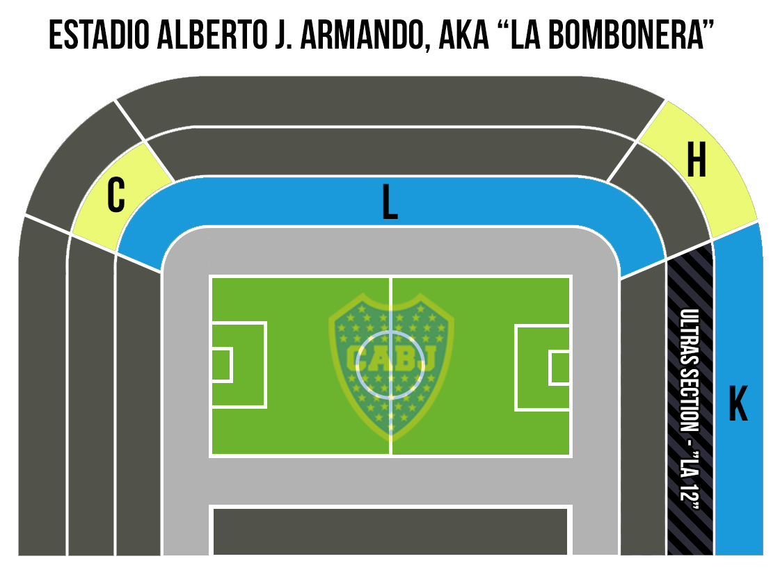Boca Juniors Stadium Map