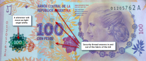 how to spot a fake bill in argentina