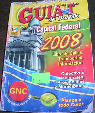 Front cover of a 'Guia T'