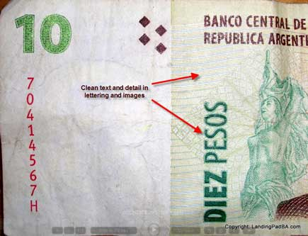 Front of real 10 peso note