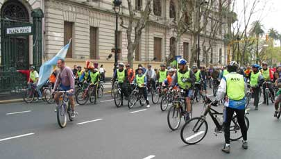 Bikers in Buenos Aires