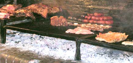 Meat on Asado in buenos aires argentina