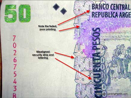 Front of a real 50 peso note